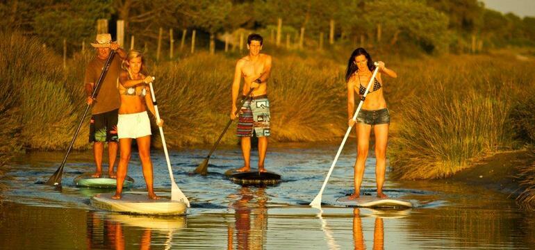 Stand-up paddle sur l'Etang du Ponant à La Grande Motte
