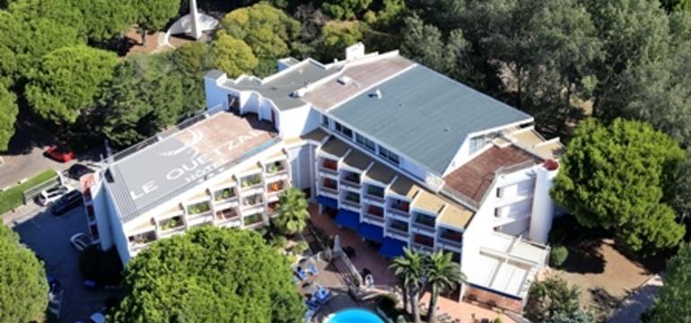vue aérienne Hôtel Quetzal